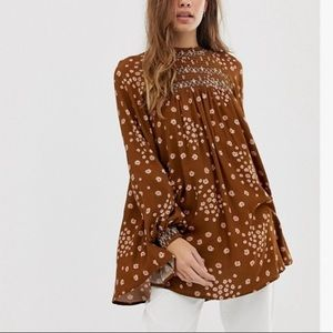 NWT Free people flowers in her hair tunic